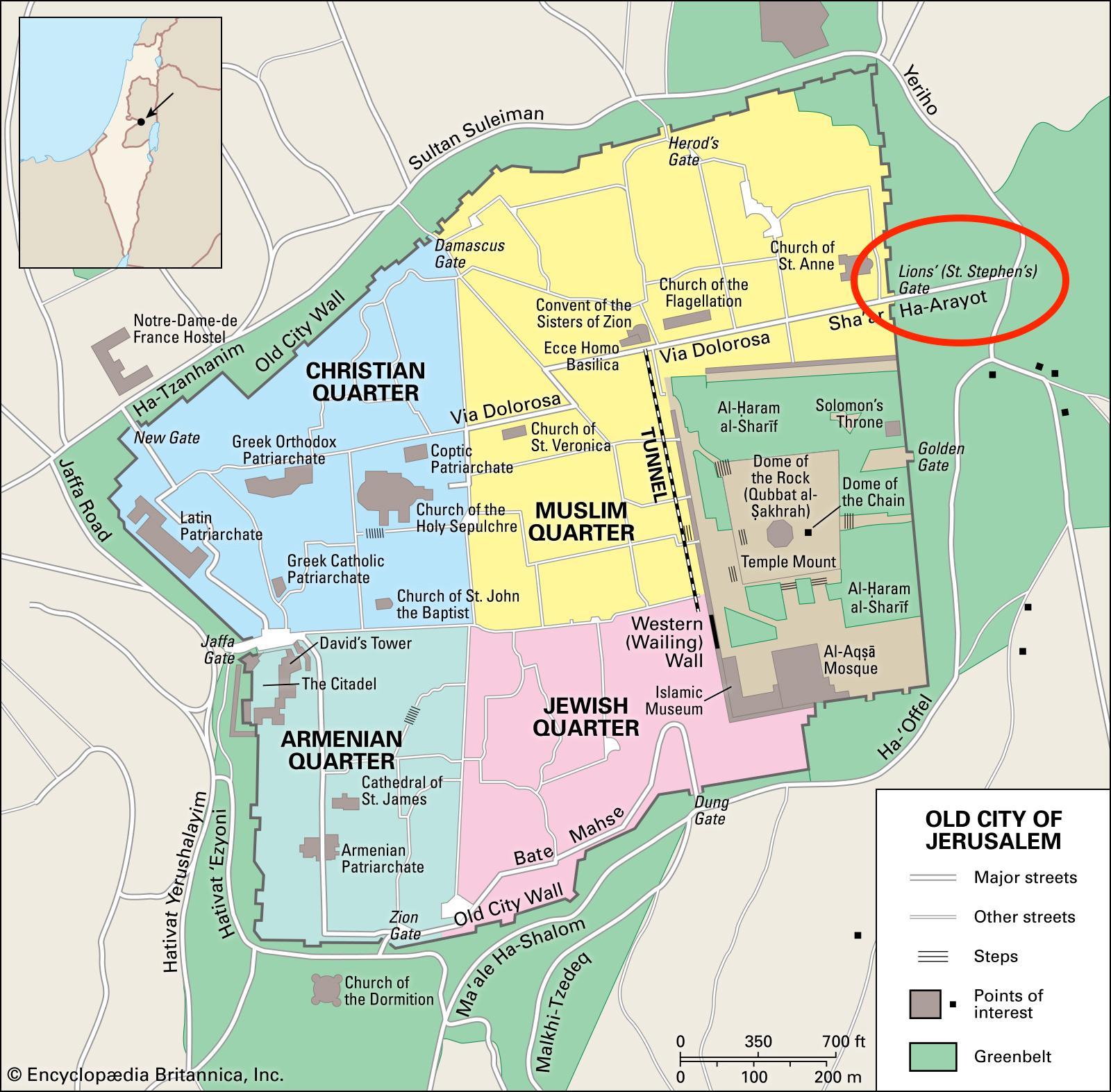 Popular List Jerusalem Tourist Map - Where is jerusalem