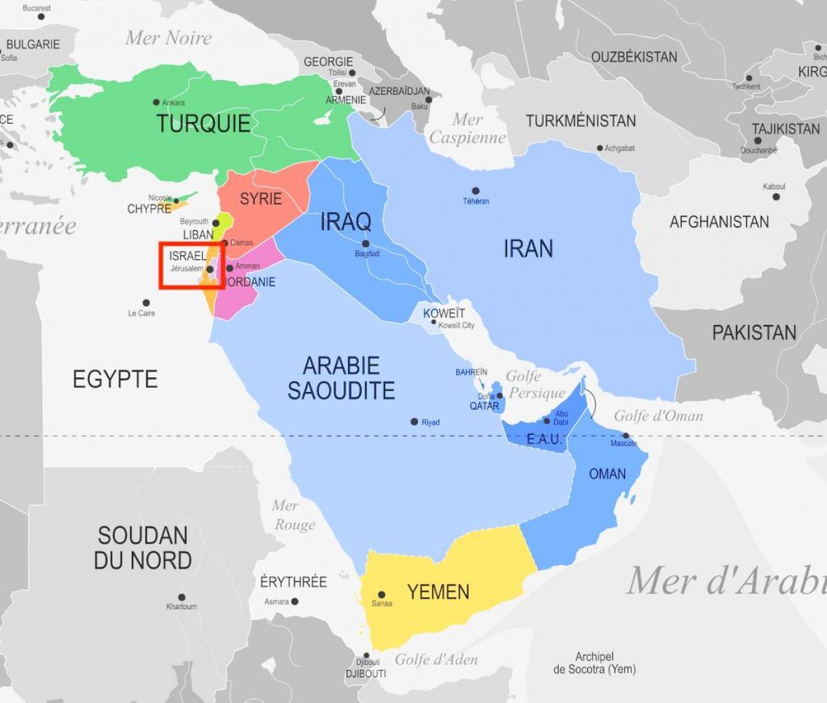 Jerusalem map middle east jerusalem on map of middle east israel jerusalem on map of middle east gumiabroncs Image collections