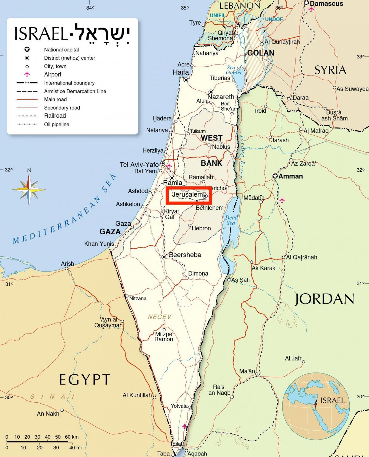 Jerusalem on map jerusalem on map of world israel jerusalem on map of world gumiabroncs Choice Image