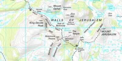 Jerusalem map maps jerusalem israel walls of jerusalem national park map gumiabroncs Images